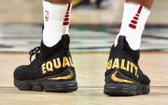 James Debuts Controversial Sneakers During Game Against Celtics