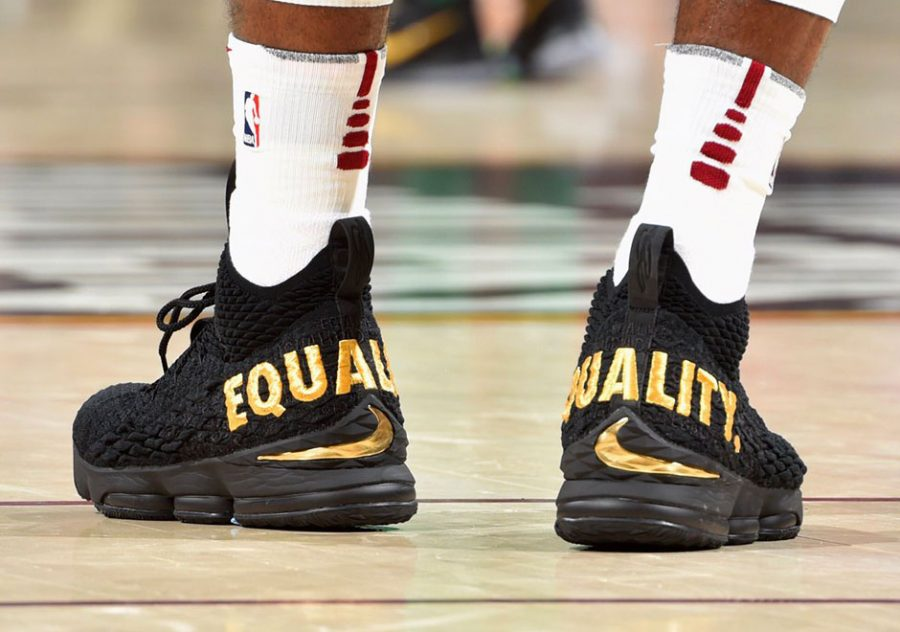 9a1621471ec James Debuts Controversial Sneakers During Game Against Celtics ...