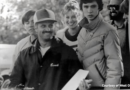 Joe Suriano in 1971 coaching at WOHS.