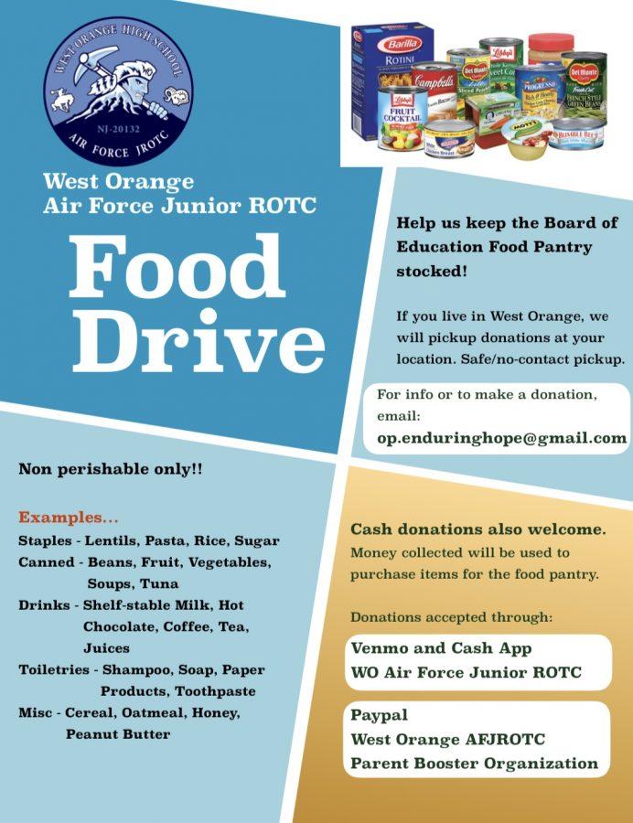 Help the AFJROTC Food Drive!