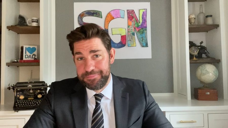 John+Krasinski+hosts+Some+Good+News+%28SGN%29