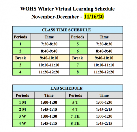 Original new winter virtual schedule