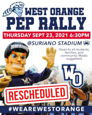 Rescheduled Date for WOHS Pep Rally